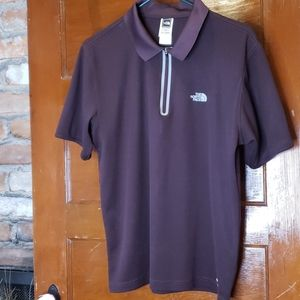 The North Face 3/4 Zip Short Sleeve Pull Over